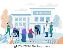 Nursing Home Building Clip Art Royalty Free Gograph