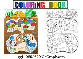 Ants House Clip Art - Royalty Free - GoGraph