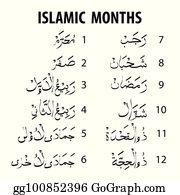 Hijri Calendar Clip Art - Royalty Free - GoGraph