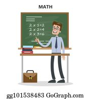 Young Attractive Caucasian Math Teacher Standing Next To Blackboard Royalty  Free Cliparts, Vectors, And Stock Illustration. Image 73248787.