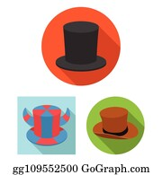 6db93681a114f Isolated object of hat and derby sign. Set of hat and bonnet stock vector  illustration