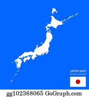 Blank Japan Map Clip Art - Royalty Free - GoGraph