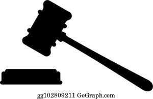 Judge Gavel Clip Art - Royalty Free - GoGraph