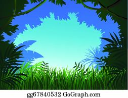 Jungle With Palm Trees Royalty Free Cliparts, Vectors, And Stock  Illustration. Image 12385294.