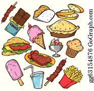 Food unhealthy. Junk clip art royalty