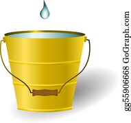 Water bucket. Clip art royalty free