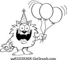 Simple Balloons Line Art stock illustration. Illustration of clip - 7266678