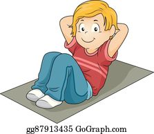 Sit Ups Clip Art - Royalty Free - GoGraph