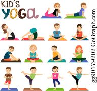Kids Yoga Clip Art Royalty Free Gograph