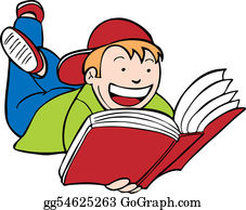 Lesende Clipart - Lizenzfrei - GoGraph