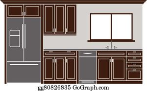 Kitchen Cabinets Clip Art Royalty Free Gograph