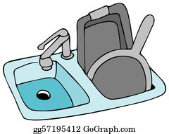 Super Kitchen Sink Clip Art Royalty Free Gograph Home Interior And Landscaping Ymoonbapapsignezvosmurscom