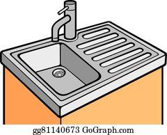 Excellent Kitchen Sink Clip Art Royalty Free Gograph Home Interior And Landscaping Ymoonbapapsignezvosmurscom