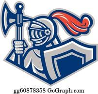 Knight Shield Vector