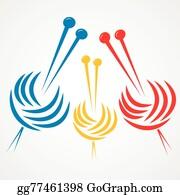 knitting needles vector stock gg77461398