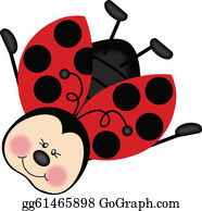 Ladybug on leaf clipart. Commercial use GIF, JPG, PNG, EPS, SVG, PDF clipart  # 379657   Graphics Factory