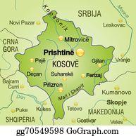 Map Of Kosovo Clipart Lizenzfrei Gograph