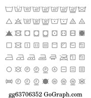 Laundry Care Symbol Clip Art - Royalty Free - GoGraph