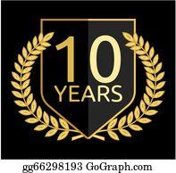 10 Anniversary Clip Art Royalty Free Gograph