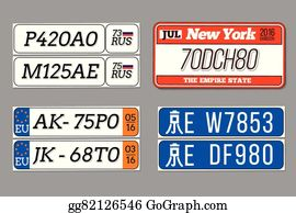 Drivers License Vectors - Royalty Free - GoGraph