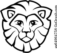 Lion Face Clip Art Royalty Free Gograph Cut out the shape and use it for coloring, crafts, stencils, and more. lion face clip art royalty free gograph