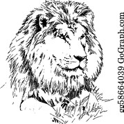 Black And White Lion Clip Art Royalty Free Gograph Clip art is a great way to help illustrate your diagrams and flowcharts. black and white lion clip art royalty