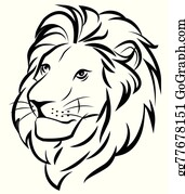 Lion Face Clip Art Royalty Free Gograph Lion tattoo clipart outline lion face black and white png. lion face clip art royalty free gograph