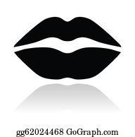 Lips black. Clip art royalty free