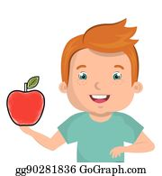 Kid Eating Apple Clip Art Royalty Free Gograph