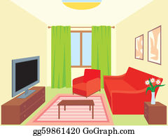 Living Room Clip Art - Royalty Free - GoGraph