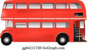 Double Decker Bus Clip Art - Royalty Free - GoGraph