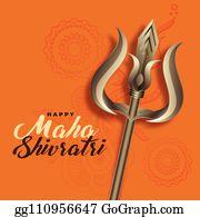 Vector Illustration - Hindu maha shivratri festival of lord shiva with  flower decoration. EPS Clipart gg110252723 - GoGraph