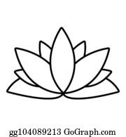 Buddhism Symbol Lotus Blossom Stock Illustrations Royalty Free