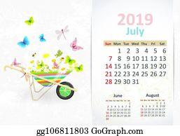 Vector Art Lovely Flowers Calendar For 2019 December Eps