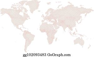 ... Low Poly World Map On Grey And Red