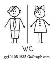 Eps Illustration Wc Toilettentur Platte Heiligenbilder Auf