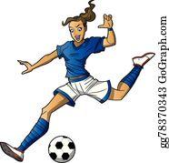 Madchen Fussball Clipart Lizenzfrei Gograph