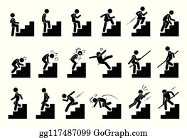 Climbing Stairs Clip Art Royalty Free Gograph