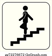 Clip Art of Descending Stairs