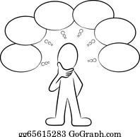 Thinking Balloon Clip Art - Royalty Free - GoGraph