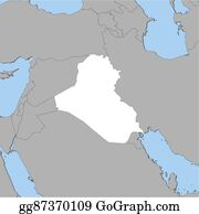 Vector Clipart - Map of iraq, bagdad highlighted. Vector ...