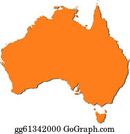 Australia Map Clipart.Map Australia Clip Art Royalty Free Gograph