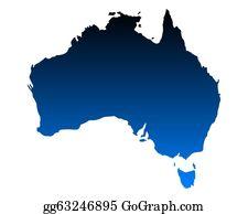 Map Australia Clip Art - Royalty Free - GoGraph