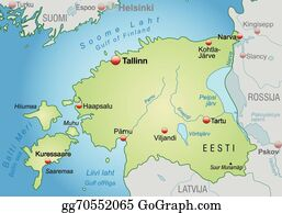 Vector Stock - Map of estonia, paernu highlighted. Clipart ...