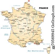Map France 945.Map Of France Clip Art Royalty Free Gograph
