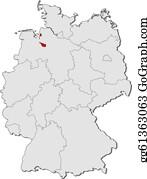 Deutschlandkarte Clip Art Royalty Free Gograph