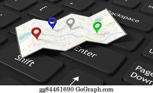 Map Pointer Icon Stock Photos - GoGraph