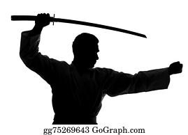 Karate Kicks Silhouette Stock Photos - GoGraph
