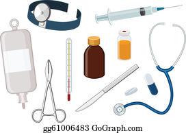 Doctors Tools Clip Art - Royalty Free - GoGraph