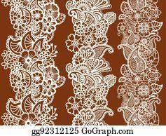 Mehndi Patterns Vector : Vector stock mehndi design patterns clip art gg